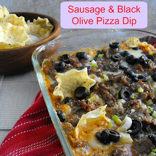 Sausage and Black Olive Pizza Dip