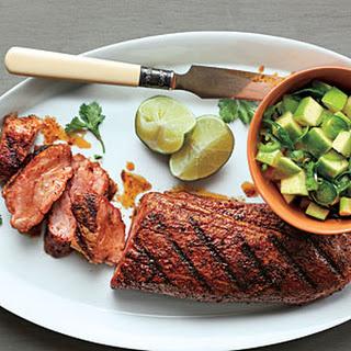 Spanish Pork with Apple-Citrus Salsa.