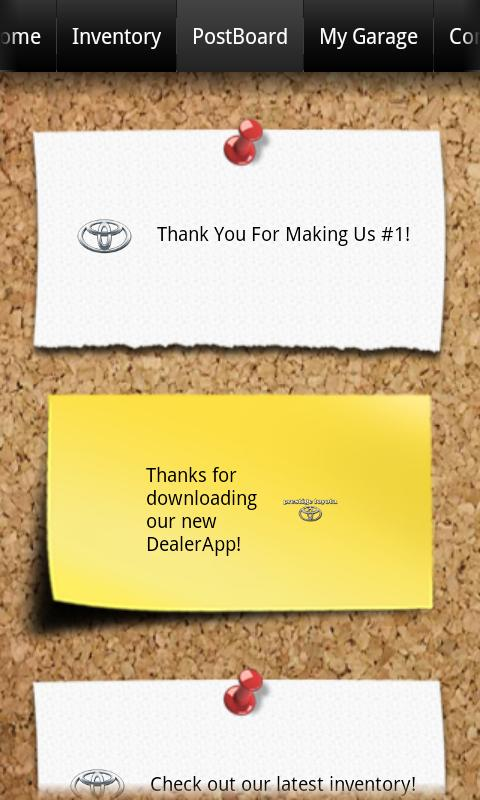 Prestige Toyota DealerApp - screenshot
