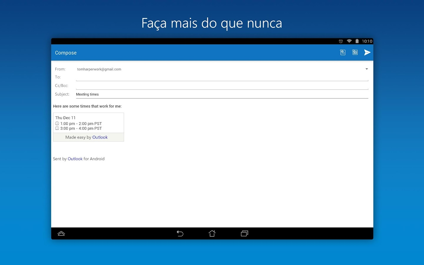 Microsoft Outlook: captura william hill poker download williamhill android sports de tela