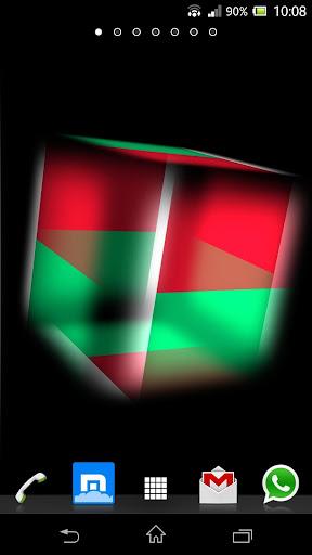 3D Madagascar Cube Flag LWP