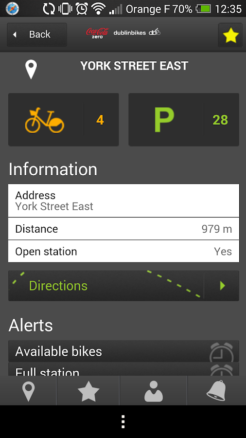 Coca-Cola Zero dublinbikes- screenshot