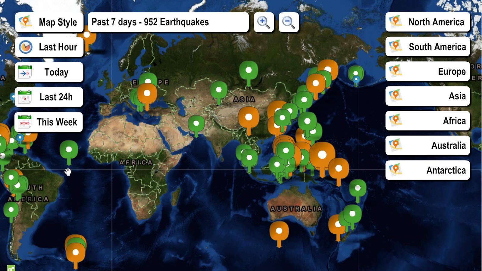 Real Time Earthquake Map My Blog - Washington dc earthquake map