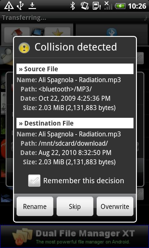 Bluetooth File Transfer - screenshot