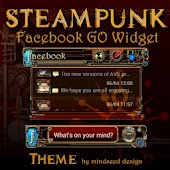 Steampunk Facebook GO Widget