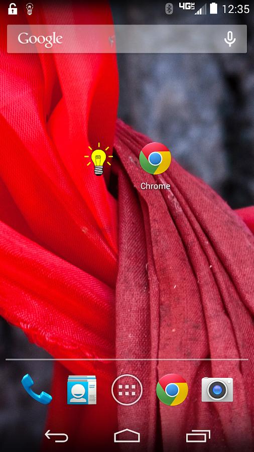 Cartoon flashlight widget - screenshot