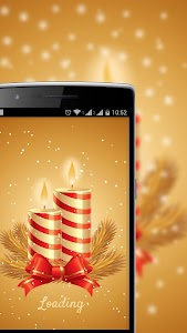 Candle Light Snowfall LWP screenshot 7