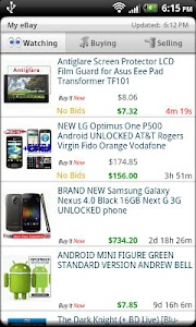 Droid Auctions for eBay screenshot 4