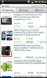 Droid Auctions for eBay - screenshot thumbnail