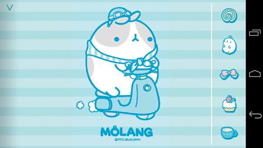 몰랑 아이스크림 블루 아톰 테마