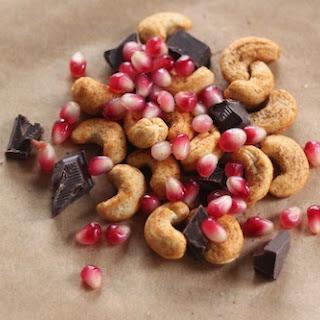 Cashew, Chocolate and Pomegranate Snack Mix (a.k.a. Oddly Good Snack Mix).