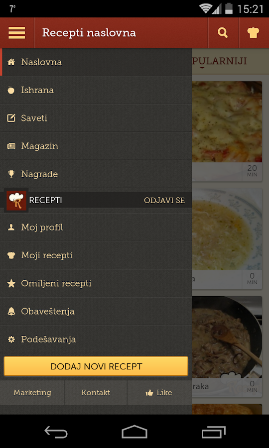 Recepti - Kuvar- screenshot