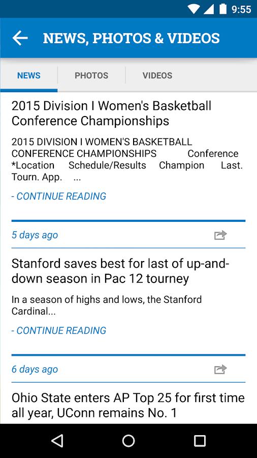 NCAA DI Women's Basketball - screenshot