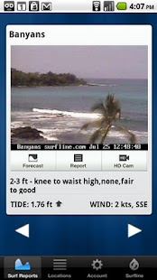 Surfline Surf Report - screenshot thumbnail