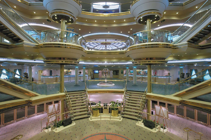 Majesty of the Seas' Centrum, an impressive multi-level atrium, is a central gathering spot and shopping area.