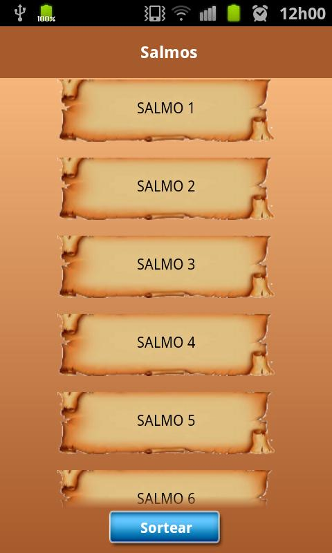 Salmos para Android- screenshot