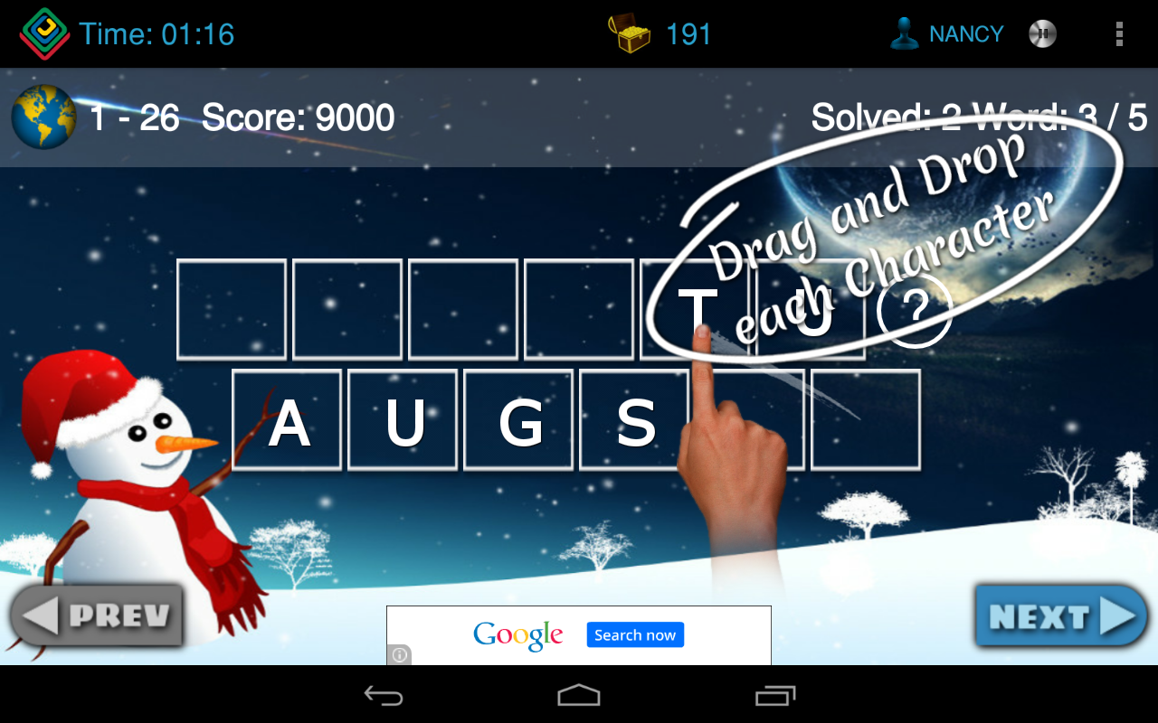 Vocabul Jumble (Word Jumble)- screenshot