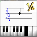 Learn sight read music notes ¼ icon