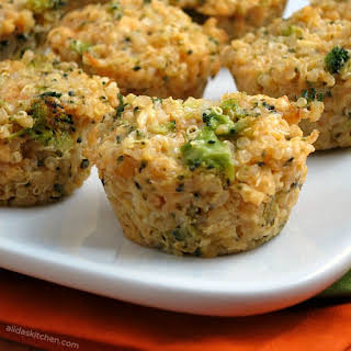 Broccoli Cheddar Quinoa Bites.