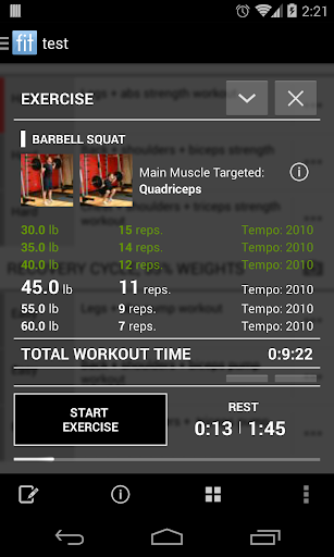 Fit Log : Fitness Workout Log screenshot 1