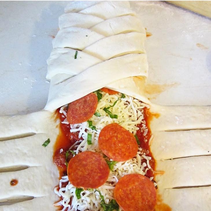Braided Pizza Calzones Recipe
