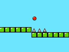 Screenshot of Red Bouncing Ball Spikes