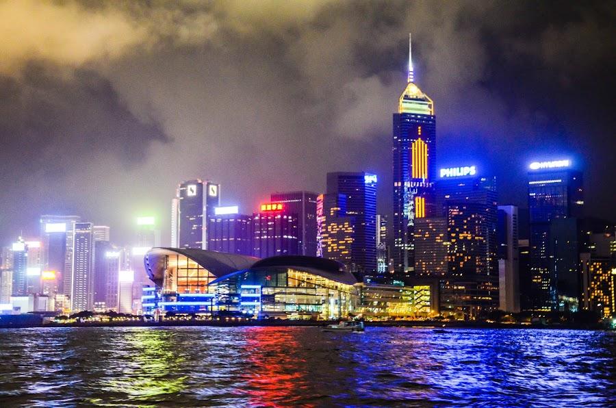 Hong Kong Skyline by Angelo Perrino - City,  Street & Park  Skylines