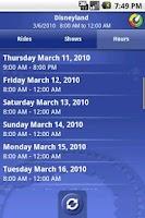 Screenshot of Ride Hopper Park Wait Times