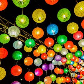 Colorful Night Walk by Nilwan Humendru - City,  Street & Park  Night