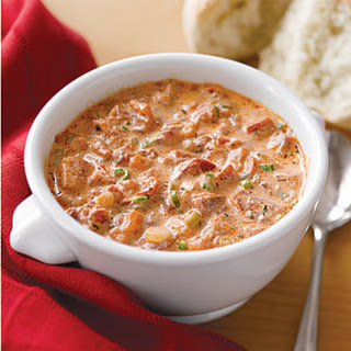 Tomato-Basil-Red Pepper Soup.
