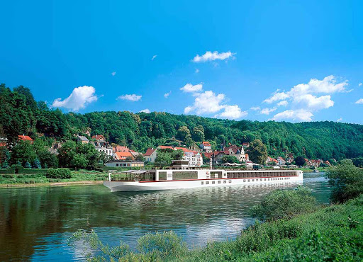 Viking-River-Cruise-on-Elbe-River -  Sail on a Viking Longship custom-designed to navigate Europe's narrow waterways.