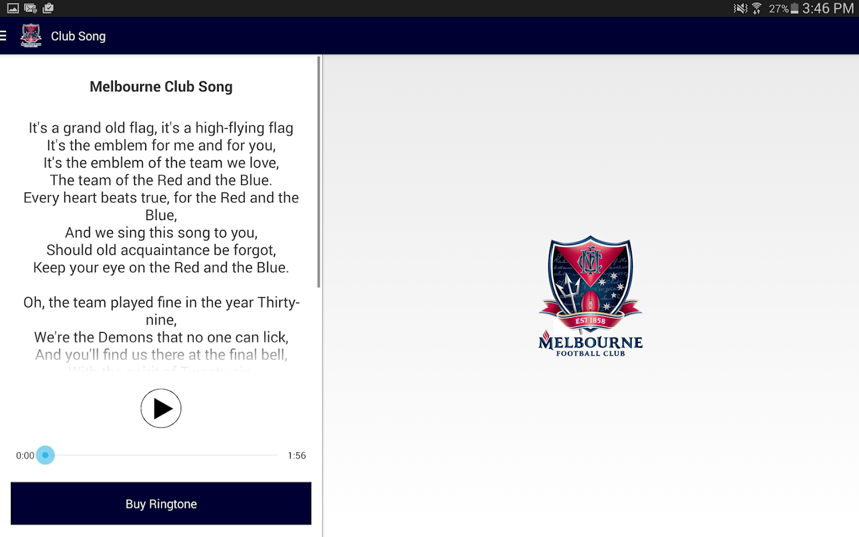 Melbourne Official App - screenshot