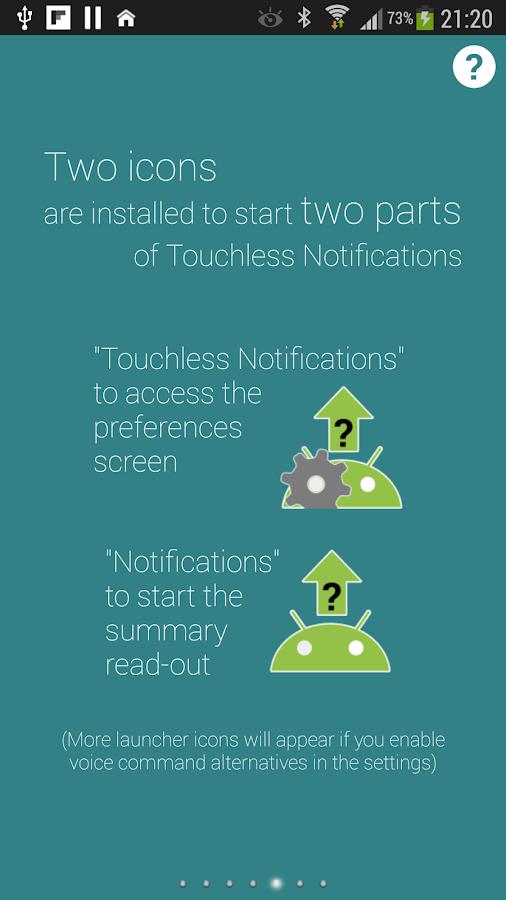 Touchless Notifications Free - screenshot