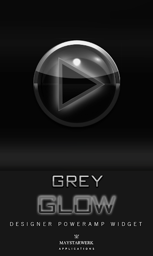 Poweramp Widget Grey Glow