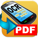 OCR PDF scan image to text icon