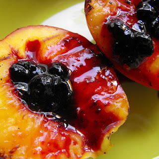 Grilled Nectarines with Wild Berries Jam