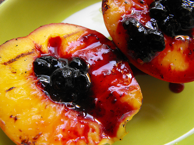 Grilled Nectarines with Wild Berries Jam Recipe