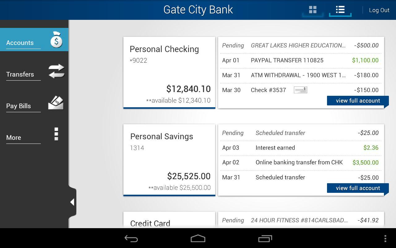 Gate City Bank - screenshot