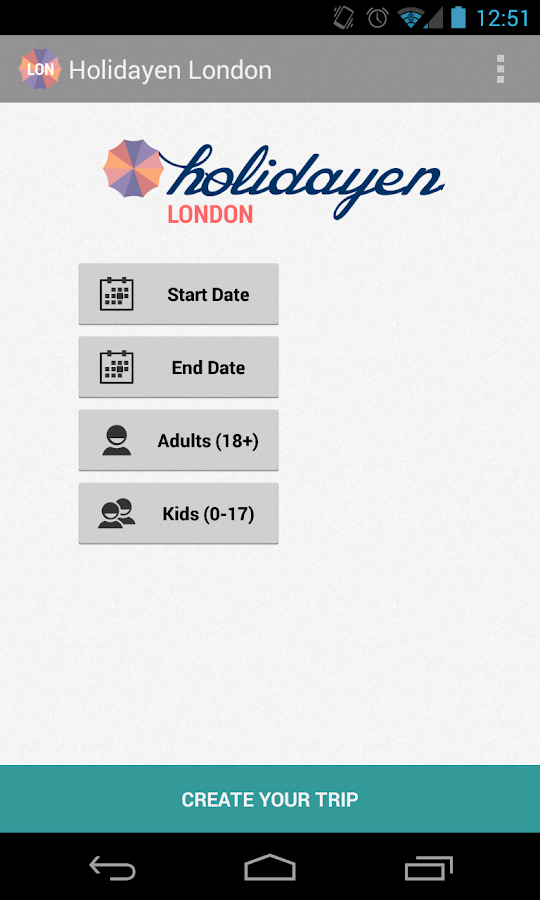 Holidayen London- screenshot