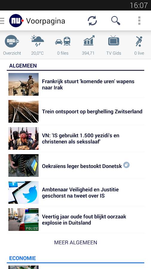 NU.nl: screenshot