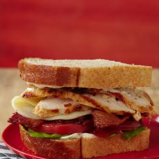 Marinated Chicken Club Sandwich.