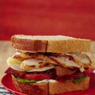 Marinated Chicken Club Sandwich.