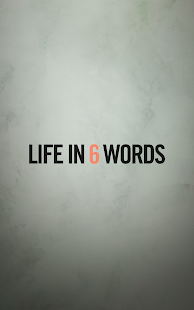 Life in 6 Words- screenshot thumbnail
