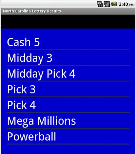 North Carolina Lottery Results