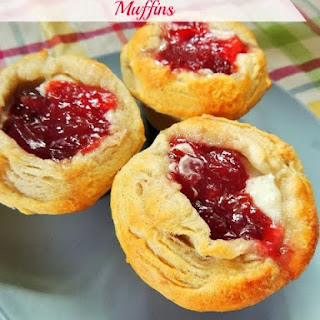 Cherry Cream Cheese Danish Muffins.