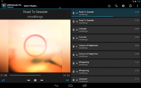 aWARemote for Winamp® - screenshot thumbnail