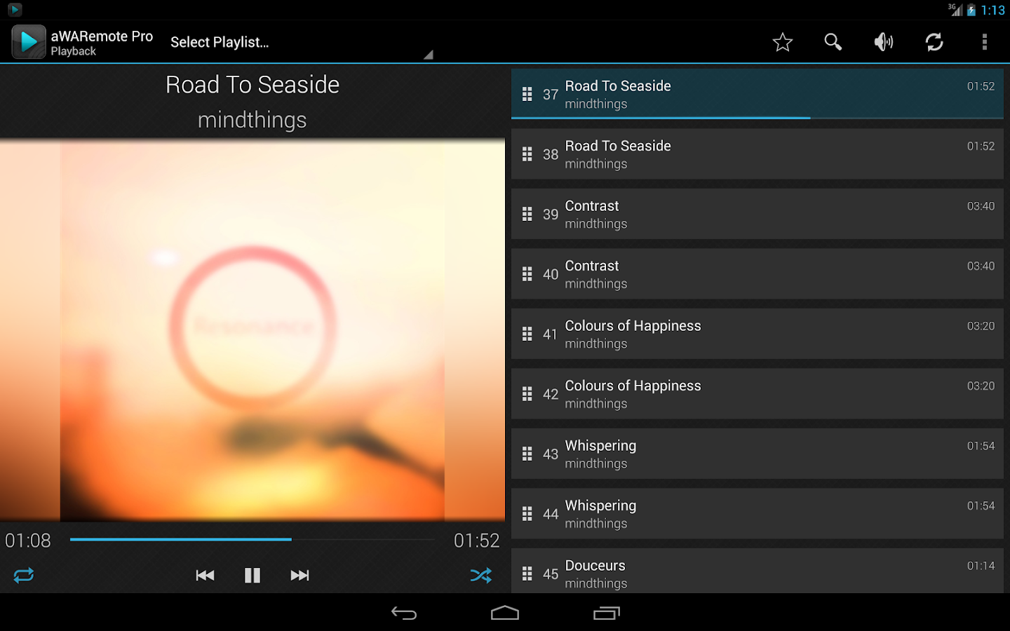 aWARemote for Winamp® - screenshot