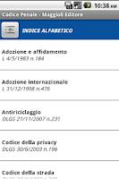 Screenshot of Codice Penale