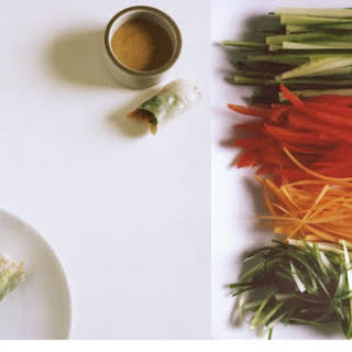 Peanut Dipping Sauce With Spring Rolls Recipes.