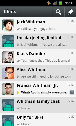 WhatsApp Messenger v2.7.2126
